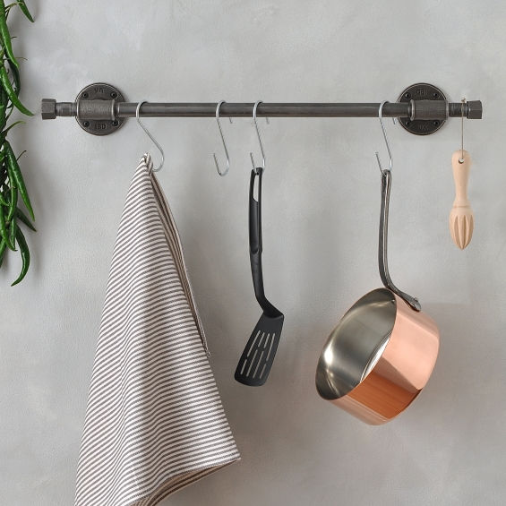 Industrial Kitchen Pan Rail