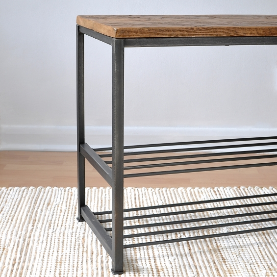 Hampstead Industrial Storage Bench