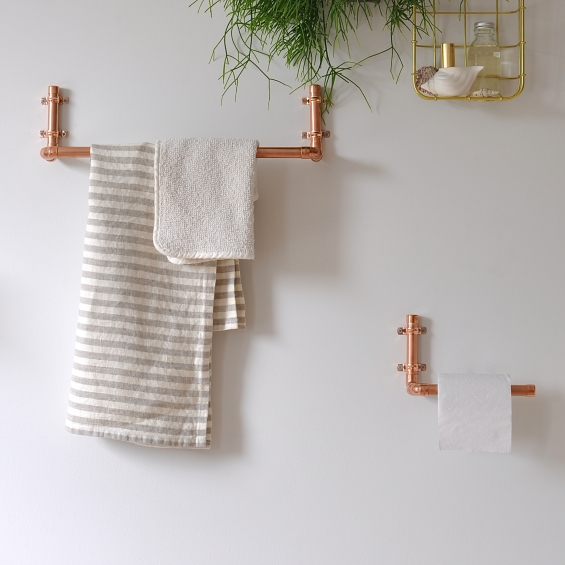 Toilet Roll Holder Copper