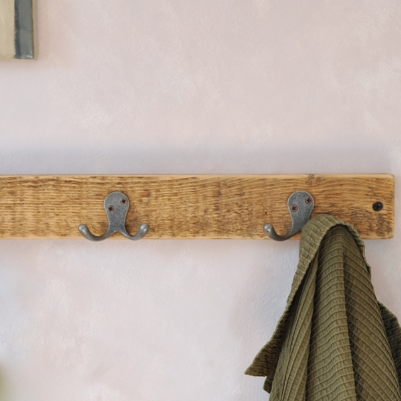 The Florence Reclaimed Wood Double Coat Hook