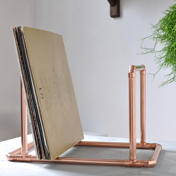 Copper Vinyl Record Holder