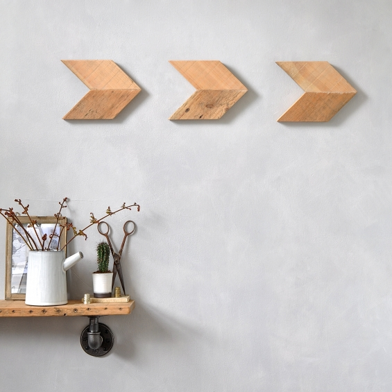 Reclaimed Wood Arrow Wall Art Set