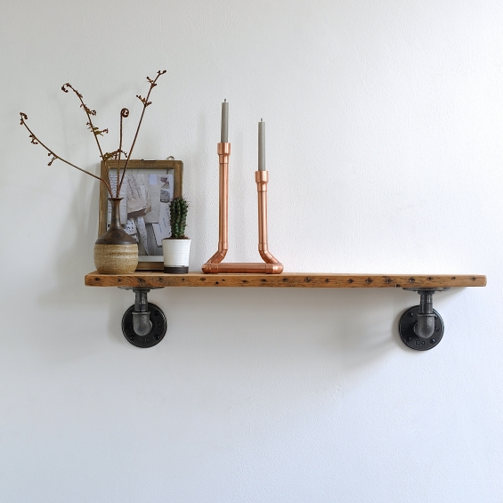 Chalk Farm Reclaimed Industrial Pipe Shelf