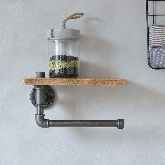 Industrial Kitchen Towel Holder And Shelf