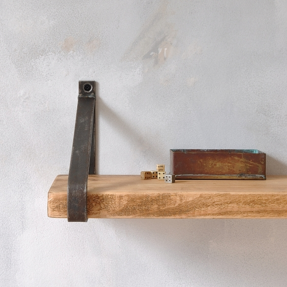 Manhattan Industrial Wood Shelf