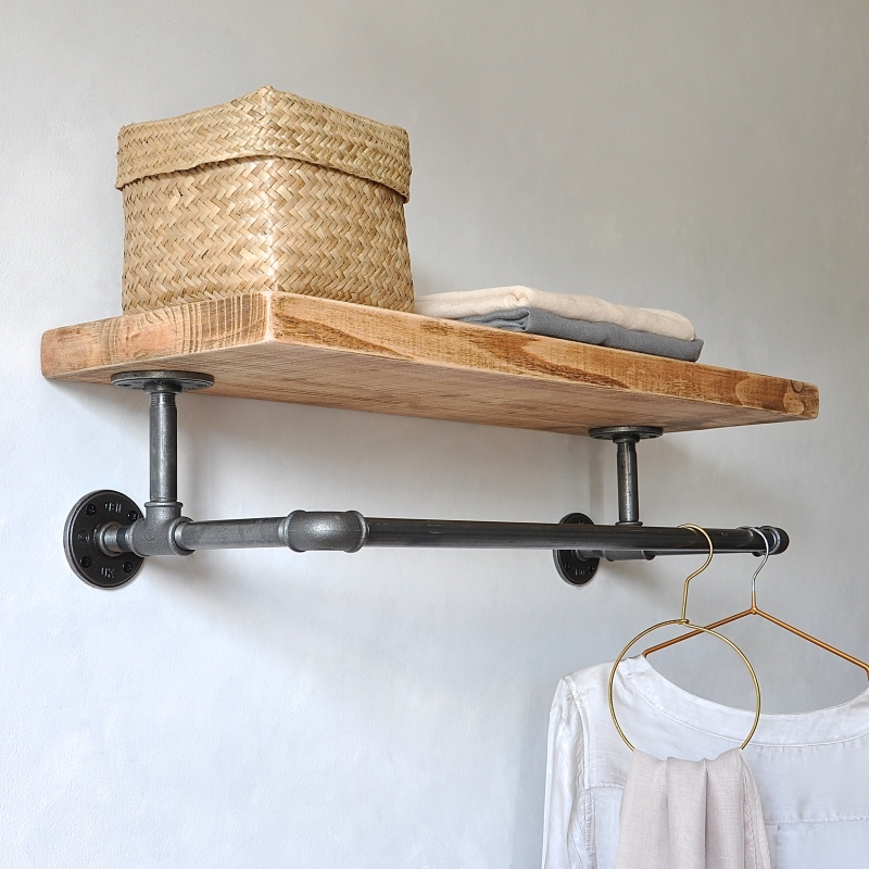 portobello industrial clothes shelf m a design. Black Bedroom Furniture Sets. Home Design Ideas