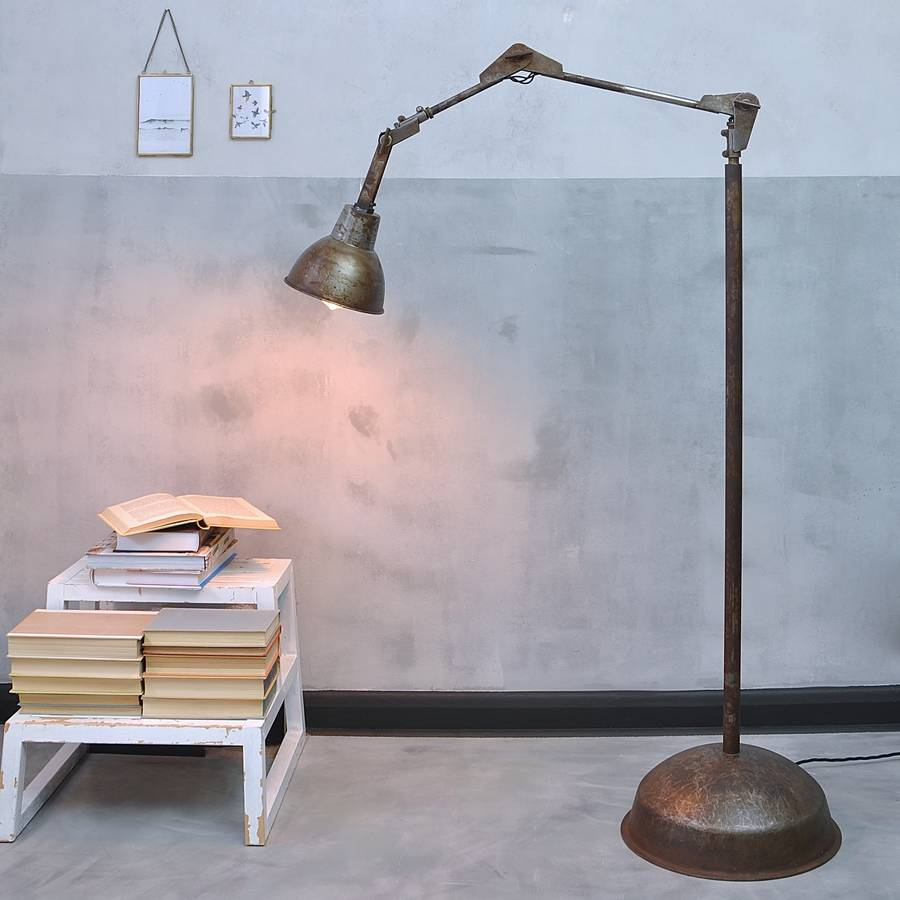 Industrial angle poise floor lamp ma design aloadofball Image collections