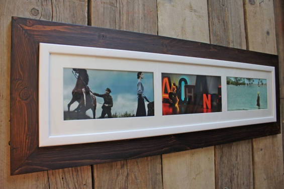 Reclaimed Wooden Landscape Aperture Photo Frame