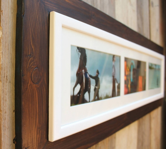 Reclaimed Wooden Landscape Aperture Photo Frame 1