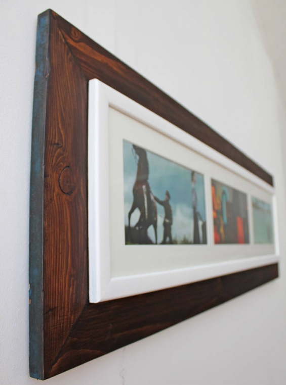 Reclaimed Wooden Landscape Aperture Photo Frame 2