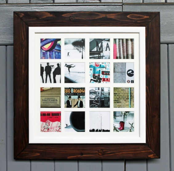 Reclaimed Wooden Multi Aperture 16 Photo Frame 1