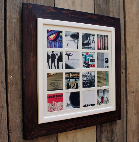 Reclaimed Wooden Multi Aperture 16 Photo Frame 2