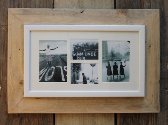 Reclaimed Wooden Multi Aperture Four Photo Frame 1