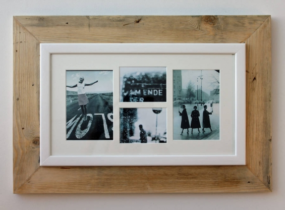 Reclaimed Wooden Multi Aperture Four Photo Frame 2