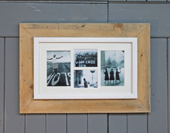 Reclaimed Wooden Multi Aperture Four Photo Frame 4