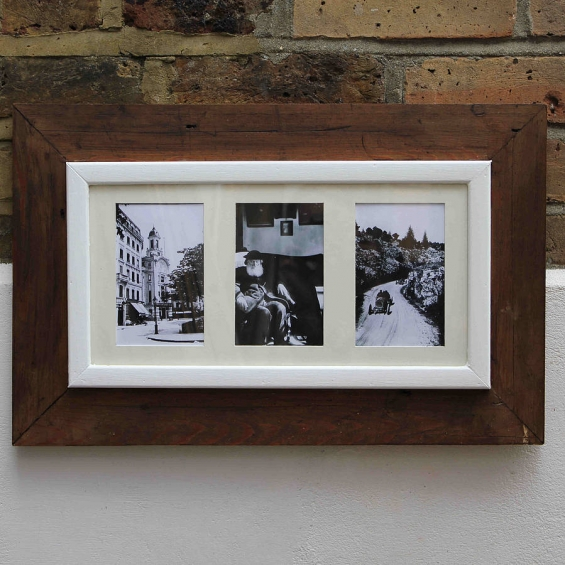 Reclaimed Wooden Multi Photo Frame