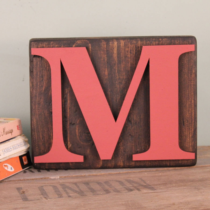 Wood Block Letters ~ Reclaimed wooden block letters möa design