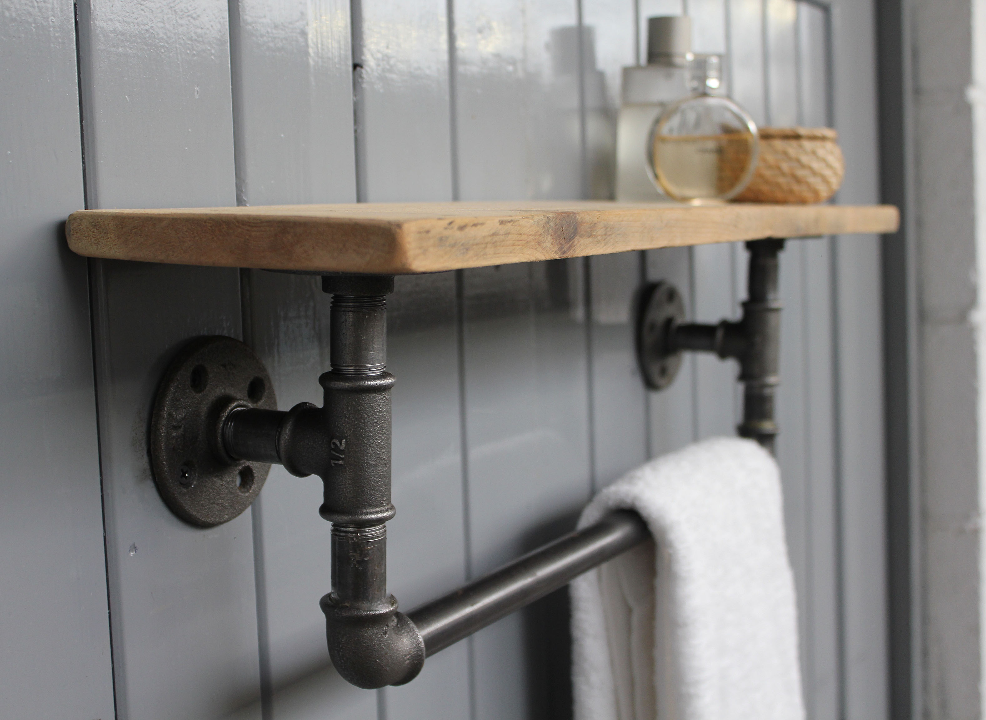 Industrial Steel Pipes : Industrial steel pipe storage shelf möa design